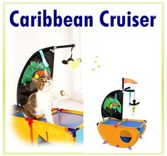 Cat Kitten Pet Play House Toy Accessory Supplies CARIBBEAN CRUISER Playground - US $30.15