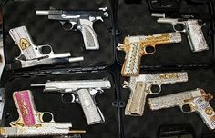 this is exactly like my collection of bedazzled guns. then I have 3 others that aren't. cuz ill use those for hunting and the shooting ranges.