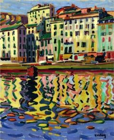 Auguste Herbin (1882 - 1960) | Post-Impressionism | The Docks of the Port of Bastia - 1907