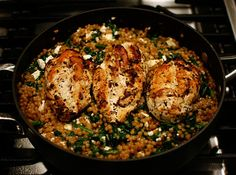 From one of our favorite cookbooks, Cooking for Two 2009 (by Cook's Illustrated & The America's Test Kitchen), this is a recipe that we go back to again and again. It's so good! Chicken with Is...