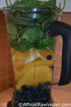 AlmostRawVegan.com ~ Blueberry, Mango, Orange... need I say more... Mmmmm Mmmm Mmmm! ;-)  ♡♡