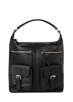 Mango Women's Pockets Hobo Bag, Black,