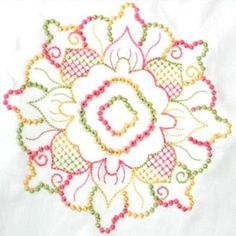 free patterns for candlewicking | Designs in Stitches – Candlewicking Applique – Variegated