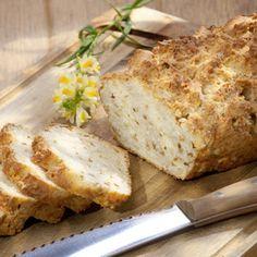 Backofen auf 180 °C (Ober-/Unterhitze) vorheizen. Mehl, Backpulver, Salz, geriebenen Käse und Röstzwiebeln vermischen. Milch unterrühren. Teig in...