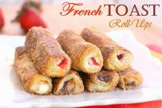 ❤️ Yummy French Toast Roll Ups! Step By Step Instructions With Pictures! Please Like If You Save!