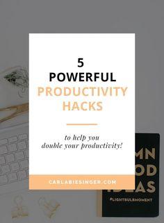 5 Simple Productivit