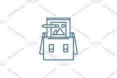 Vector Website, Report Design, Line Icon, Concept, Creative, Illustration, Illustrations