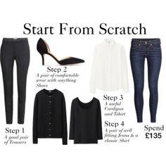 Start From Scratch Winter Steps 1-4