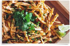 This vegan chipotle lime fries recipe comes from my first brand partnership with Kin Community and McCain Superfries. These fries remind me of my childhood! Vegan Snacks, Vegan Dinners, Vegan Food, Vegan Lunches, Vegan Appetizers, Vegan Chipotle, Chipotle Chili, Vegan Barbecue, Greek Fries
