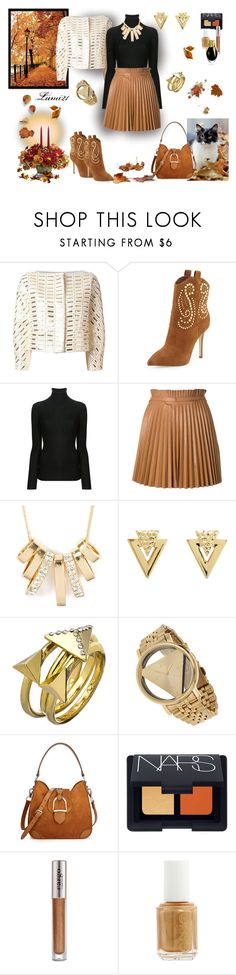"""pleated in autumn"" by lumi-21 ❤ liked on Polyvore featuring Temperley London, MICHAEL Michael Kors, Joseph, RED Valentino, Charlotte Russe, Blu Bijoux, Miss Selfridge, Ralph Lauren, NARS Cosmetics and CARGO"