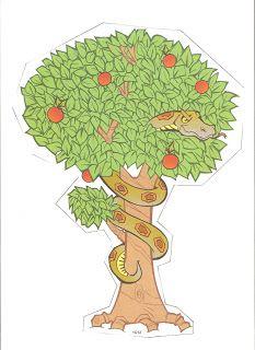 Flanelplaten bij het verhaal van Adam en Eva / Baú de Recursos para o Ministério Infantil: Adão e Eva