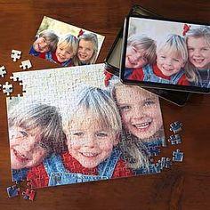 Personalized Photo Jigsaw Puzzle with Keepsake Tin - Horizontal #DIY #Puzzle #Gift