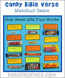 Halloween Candy Bible Verse Matchup Game