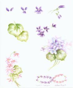 Violet step sheet by Penny Nangle