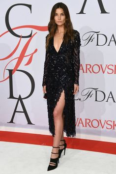 Lily Aldridge in Thakoon at the CFDA Awards