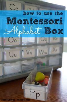 how to use the montessori alphabet box - Wildflower Ramblings #preschool                                                                                                                                                      More