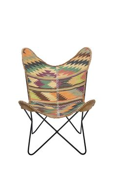 KARE: Kilim Butterfly Chair - Love this chair! Solid Wood Furniture, Furniture Design, Rainbow House, Love Chair, Shops, Kare Design, Butterfly Chair, Chair Covers, Boho