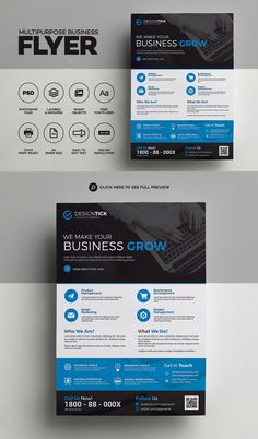 Creative & Corporate flyer for your company or agency. Template Brochure, Free Brochure, Flyer Template, Graphic Design Flyer, Design Poster, Brochure Design, Corporate Flyer, Business Flyer, Business Marketing
