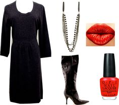 """""""Pop of Red"""" by closetdash on Polyvore"""
