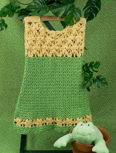 he Lemon Drop Dress is a free, easy crochet pattern for a toddler's dress. It can be worn as a cute dress or jumper and features crochet stitches that look like flowers.  Sizes are 3-6 months, 12-18 months (T2-T4)