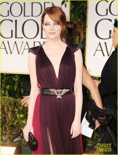 Emma Stone - Golden Globes 2012 Red Carpet