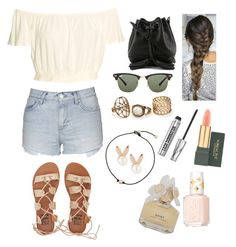 """""""☀️"""" by sara-m-shrekgast ❤ liked on Polyvore featuring Topshop, Rebecca Minkoff, Ray-Ban, Billabong, Aamaya by priyanka, Bare Escentuals, MAC Cosmetics, Marc by Marc Jacobs and Essie"""