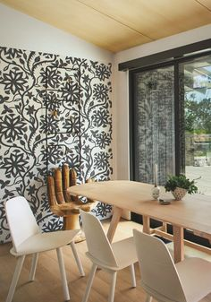 Khovar Collection Wallpaper in Flower by l'aviva home seen at Private Residence, Montecito | Wescover Decor Collection, Decor, Luxury Homes, Furniture, Home, Accent Wallpaper, Luxury Home Decor, Home Collections, Home Decor