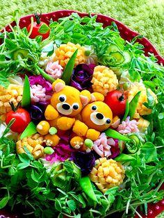 富士子's dish photo ポテサラケーキ かぼちゃの さん | http://snapdish.co #SnapDish #レシピ #キャラクター #カンタン!漬けるお酢料理 #サラダ #野菜料理 #ケーキ
