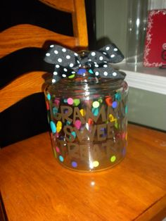 Personalized Small Glass Cookie Jar by pinkturtlecrossing on Etsy, $24.95