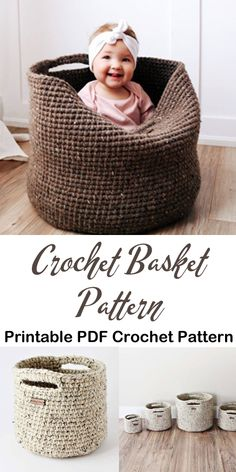 Make a basket and get organized. basket storage crochet pattern- crochet pattern… Make a basket and get organized. basket storage crochet pattern- crochet pattern…,Hakeln Make a basket and get organized. Knitting Projects, Crochet Projects, Knitting Patterns, Crochet Patterns, Free Macrame Patterns, Knitting Ideas, Crochet Ideas, Crochet Gratis, Free Crochet