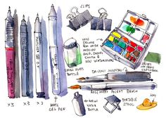 Packing for Urban Sketchers Symposium in Manchester | Parka Blogs