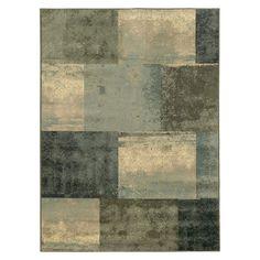 Modern Squares Area Rug - Blue/Gray