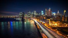 Manhattan Starry Night Wallpaper