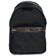 Stella Mc Cartney Falabella Go Backpack (6 495 SEK) ❤ liked on Polyvore featuring bags, backpacks, nero, stella mccartney bag, padded bag, handle bag, day pack backpack and rucksack bags