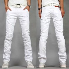 ecef6c114ee56 Find More Jeans Information about The new spring and summer 2015 mens large  size mens white jeans Korean fashion casual men stretch skinny jeans 27 40