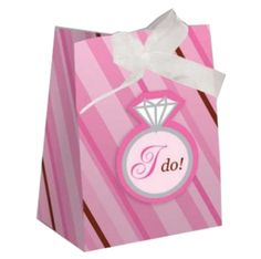 Fill our Bride 2 Be Dots Favor Bags with fun favors! Each favor bags features a pink and brown striped design with white ribbon and ring tag. Measures x x Includes 12 favor bags per package. Hen Party Favours, Hen Party Gifts, Party Gift Bags, Hen Night Ideas, Hens Night, Bridal Shower Party, Bridal Showers, Wedding Favor Bags, Party Items