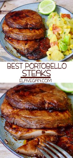 Best Portobello Mushroom Steaks which are flavorful, hearty, and perfect for the grilling season! The recipe is vegan, gluten-free, low-carb & easy to make. Whole Foods, Whole Food Recipes, Cooking Recipes, Vegan Dinner Recipes, Vegan Dinners, Healthy Recipes, Vegetarian Recipes Low Sodium, Best Vegan Recipes, Veggie Dishes
