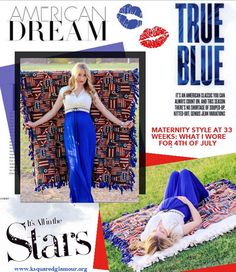 My Maternity Style at 33 weeks :: What I wore for 4th of July - Glamour-Zine