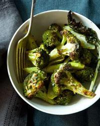 Roasted Garlic-Parmigiano Broccoli