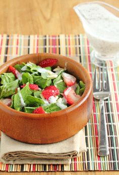 Strawberry Spinach Salad - Poppyseed Dressing