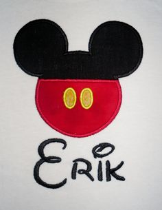 Mickey Mouse pants applique t shirt   by LollysSewingRoom on Etsy, $20.00