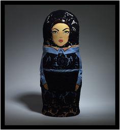 Matryoshka dolls designed by Prada to celebrate the 10th birthday of Vogue Russia magazine.