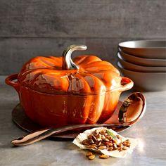 Staub Ceramic Pumpkin Cocotte #williamssonoma