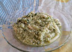 Risotto de gambas, calamares y espinacas para #Mycook http://www.mycook.es/receta/risotto-de-gambas-calamares-y-espinacas