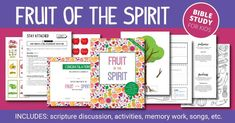 Fruit Of The Spirit Bible Study For Kids