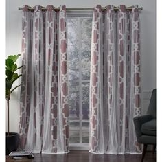 Shop ATI Home Alegra Thermal Woven Blackout Grommet Top Curtain Panel Pair – Overstock – 18590736 Home Curtains, Modern Curtains, Window Curtains, Blackout Panels, Blackout Curtains, Home Depot, Geometric Curtains, Window Treatment Store, Layered Curtains