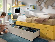 ¿Prefieres utilizarlo como cama o como cajón? En muebles Ros te damos la oportunidad de disponer una cama-cajón a la vez ¡súper! ¿no?