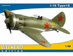 The Eduard Polikarpov I-16 Type 18 Weekend Edition in 1/48 scale from the Eduard plastic aircraft model kits range accurately recreates the real life Soviet fighter aircraft flown during World War II.  This model requires paint and glue to complete.