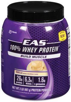 2lbs. EAS 100% Whey Protein (Vanilla) $14.75 + Free Shipping
