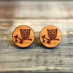 Shop Laser Cut Wood Earrings on Wanelo